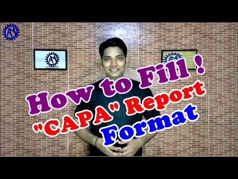 HOW TO FILL CAPA FORMAT !  ACTION PLAN FORMATS !! ASK MECHNOLOGY !!!