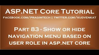 Show or hide navigation menu based on user role in asp net core