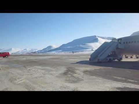 Longyearbyen, Svalbard Airport - Getting Off Plane