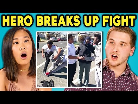 Thumbnail: TEENS REACT TO HERO BREAKS UP STREET FIGHT