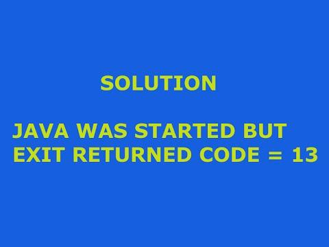 how to solve error 13