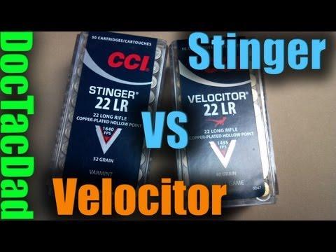 CCI STINGER vs CCI VELOCITOR - Ballistics Discussion