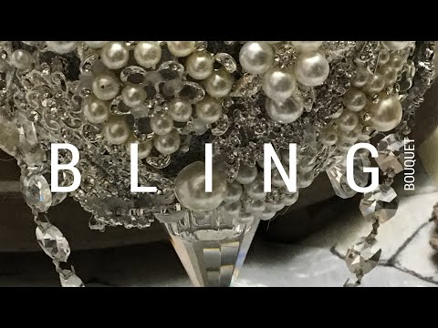 DIY Bling Bridal Bouquet