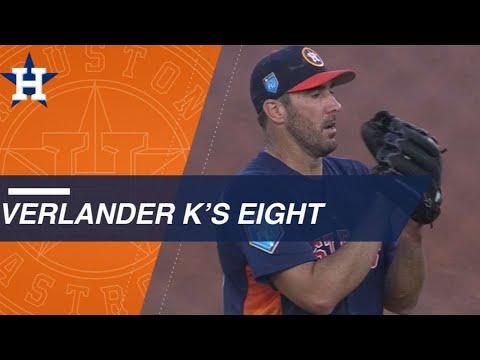 Justin Verlander strikes out eight batters in five innings