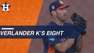 Justin Verlander strikes out eight batters in five innings
