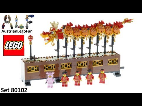 Lego 80102 Chinese New Year Dragon Dance - Lego 80102 Speed Build