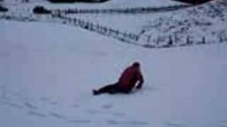 Schneegestöber Silvester 2009 Josef versus Volker