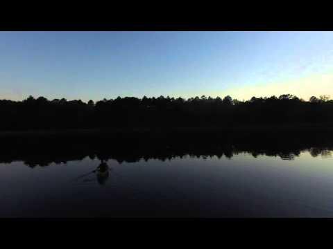 4K Canoeing Over Lake Valentine in Central Louisiana