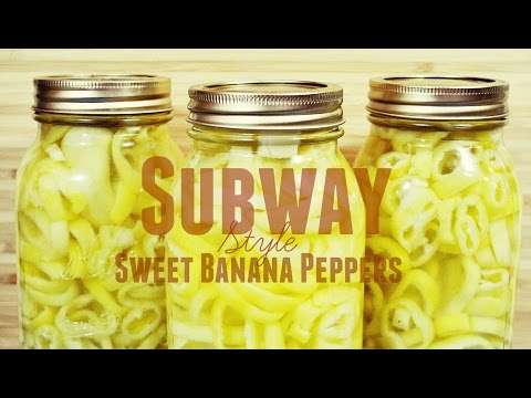 Homesteading: Canning Sweet Banana Peppers-Subway Style