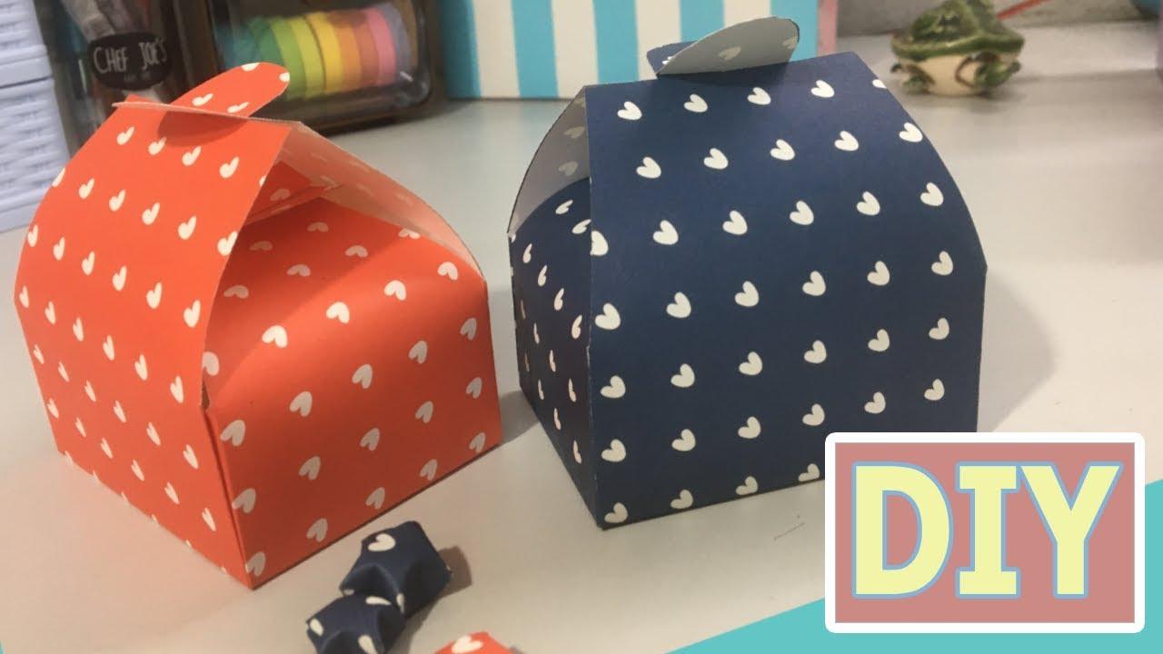 easy diy gift box    paper box tutorial