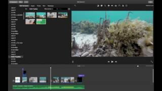 Монтаж видео в iMovie 10.1.2