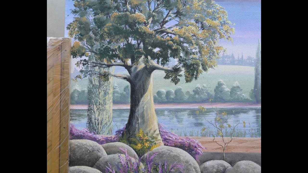 Fresque paysage d coration bord de rivi re hd youtube - Fresque sur mur exterieur ...
