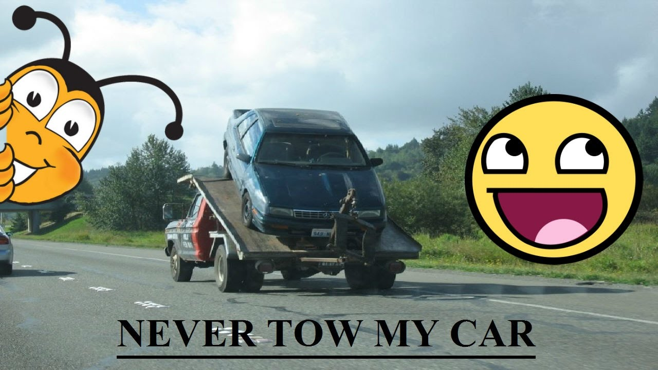 Never TOW My Car - Funny Video - See How She Took Towing Machine ...