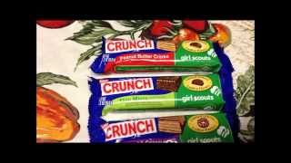Nestle Crunch Girl Scouts Candy Bars: Thin Mint, Peanut Butter Crème, And Caramel & Coconut Review