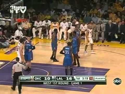 2010 NBA Playoffs Game 1 Oklahoma City Thunder vs Los Angeles Lakers Game 1 Part 2