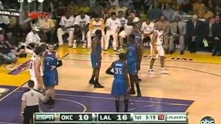 2010 NBA Playoffs Game 1 Oklahoma City Thunder vs Los Angeles Lakers Game 1 Part 2