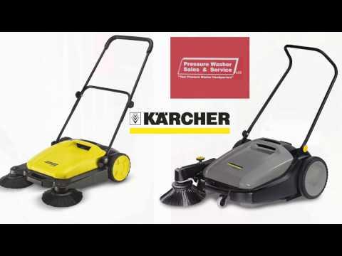 Kärcher Walk-Behind Floor Sweepers & Push Sweepers Demonstration