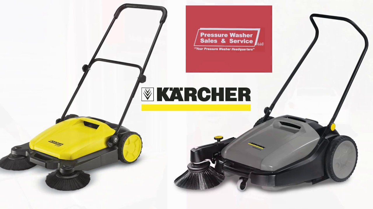 Kärcher Walk Behind Floor Sweepers U0026 Push Sweepers Demonstration