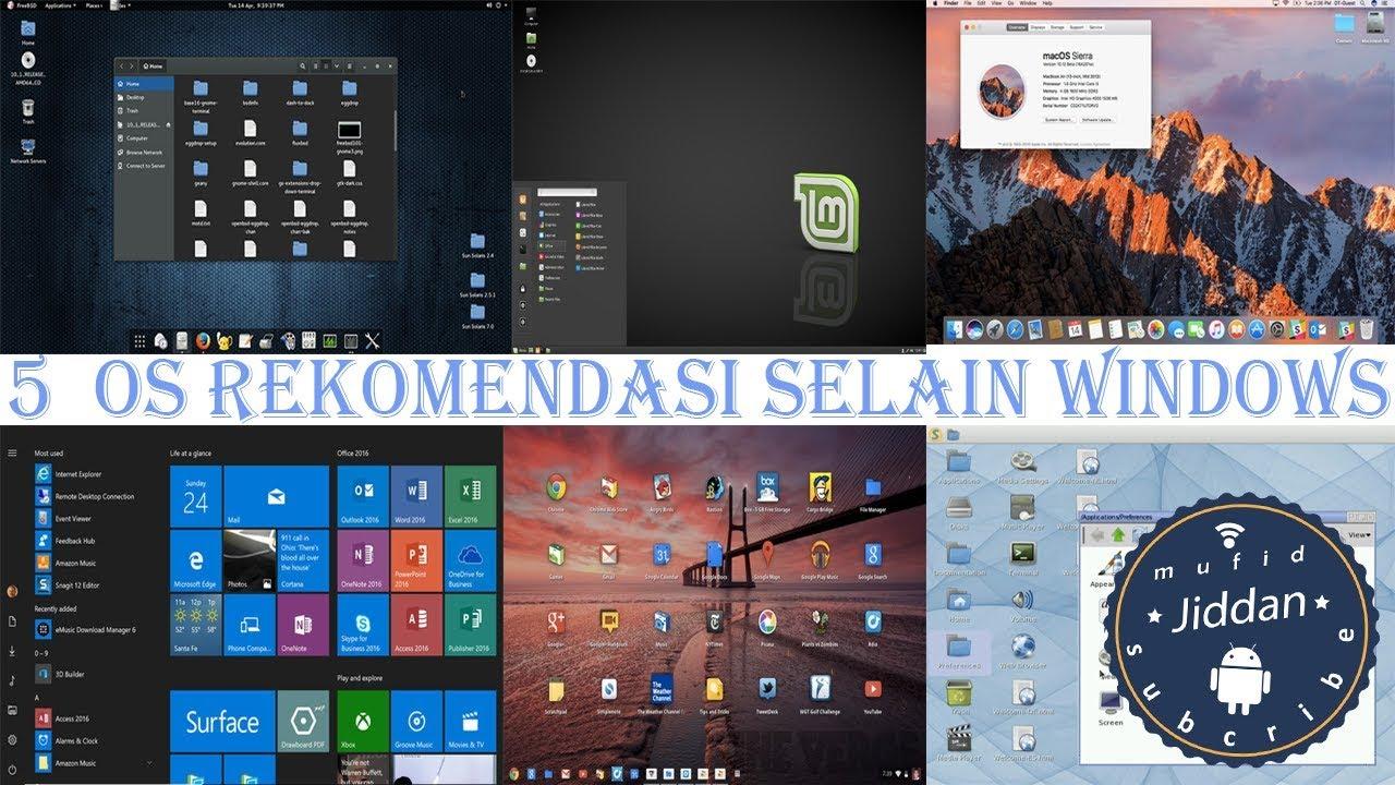 Inilah 5 operasi sistem (OS) Rekomendasi selain windows - YouTube