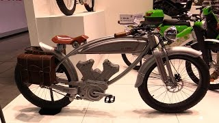 2015 Over 1950s EC-X1 Classic Electric Bicycle - Walkaround - 2014 Milan Motorcycle Exhibition