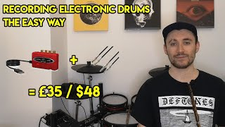 How To Record Electronic Drums For Less Than $50