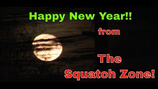 Waning Wolf Moon. Happy New Year from the Squatch Zone!
