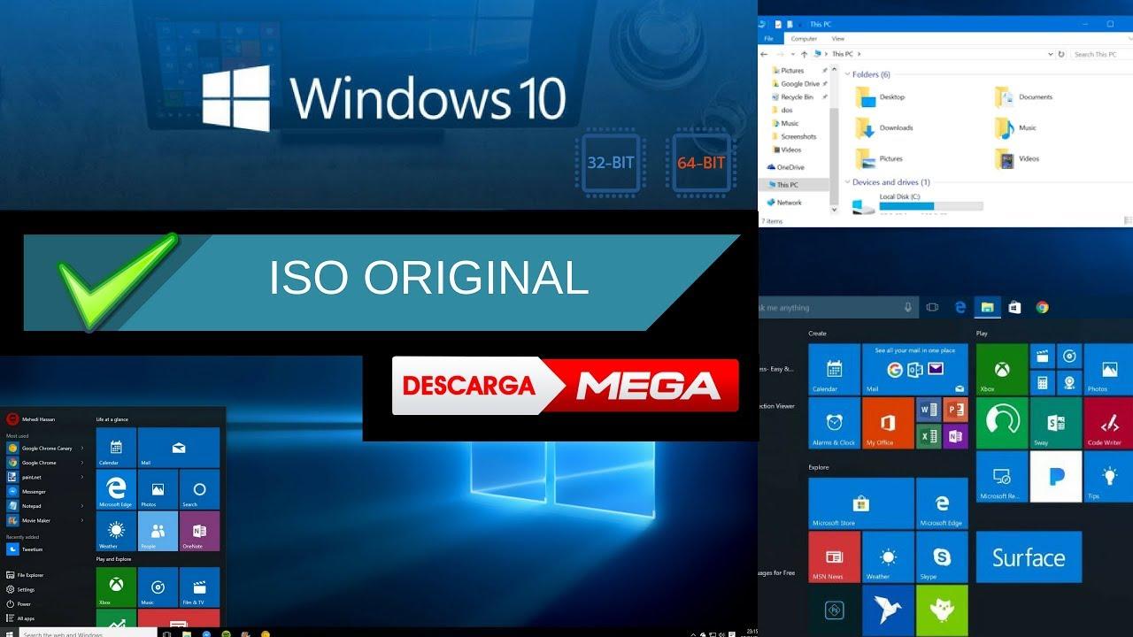 windows 10 descargar iso español 64 bits mega