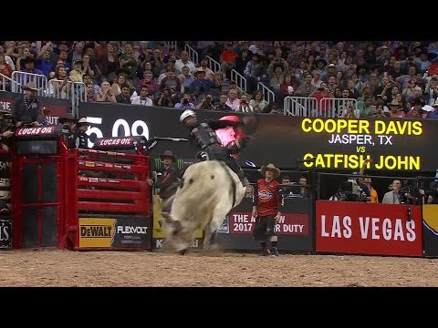 2016 PBR World Champion Cooper Davis rides Catfish John for 91 points