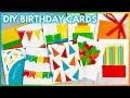 Easy DIY Birthday Cards Using Minimal Supplies | Handmade Birthday Card Ideas