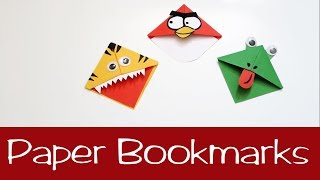 How to make Paper Bookmarks | Easy Crafts #Paper #bookmarks #Easy