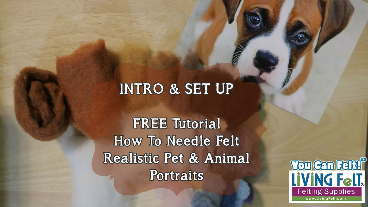 How To Needle Felt A Realistic Pet Portrait Tutorial
