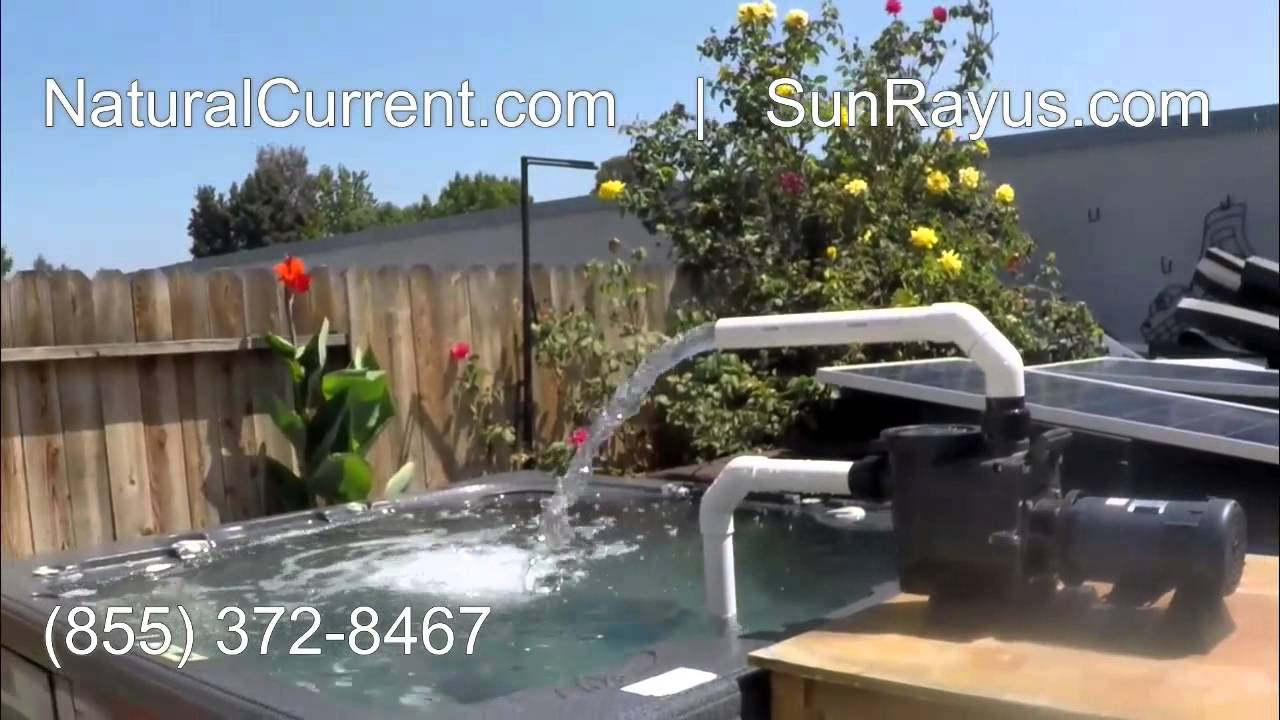 Solar powered pool spa pond pump system 1 329 diy do it for Pool pump for koi pond
