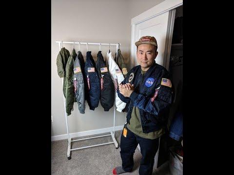 2017-12-04 Alpha Industries Flight Jacket Review Nasa MA-1 L-2B Kanye West