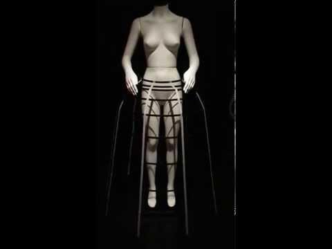 Bard Graduate Center - Fashioning the Body - Reconstruction of a Cage Crinoline circa 1860  MVI 0125