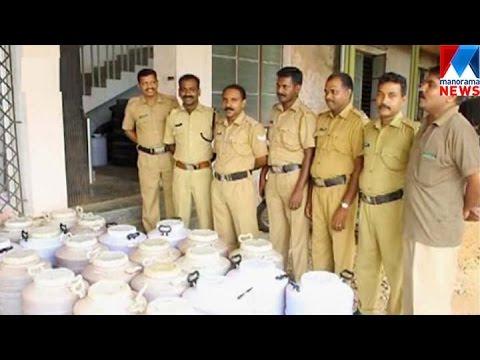 Illegal wine making center raid | Manorama News
