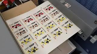 видео Цифровая печать этикеток