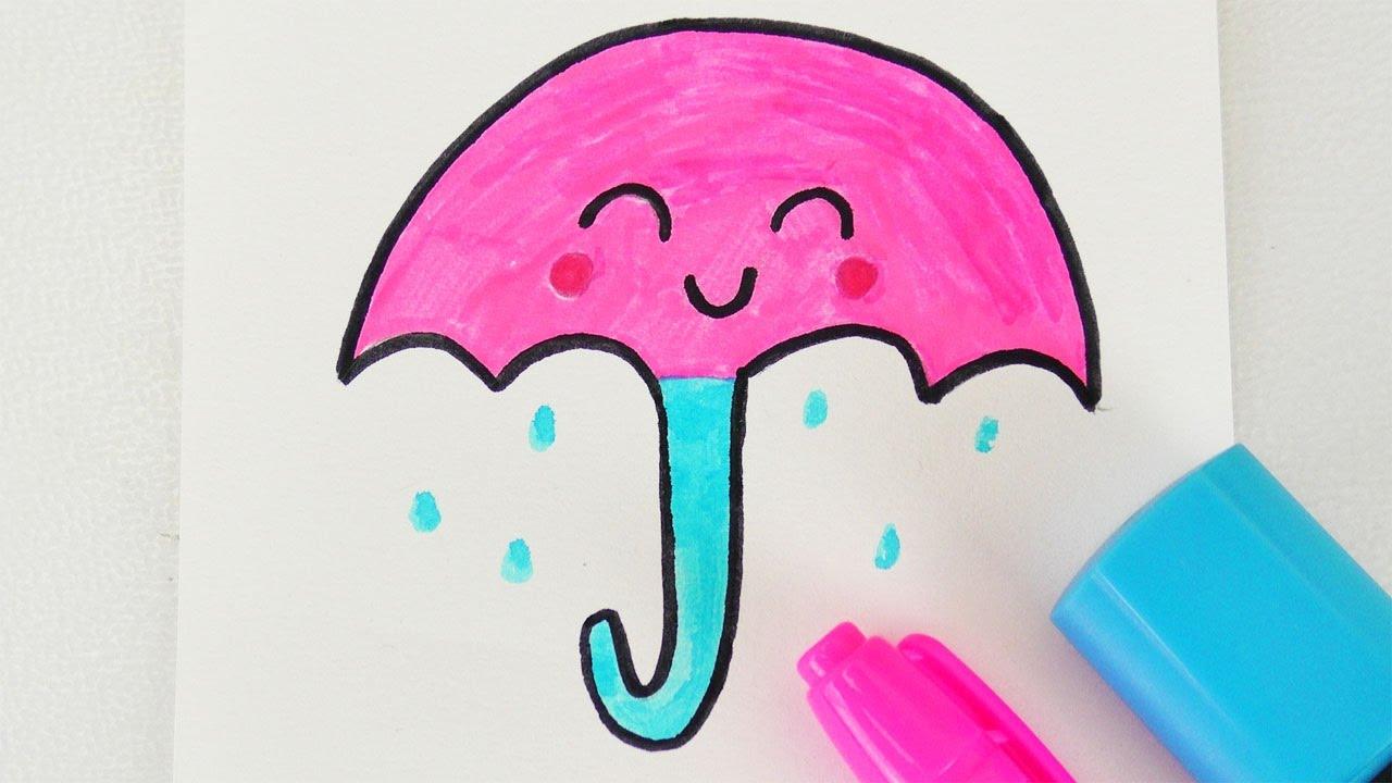 Kawaii Regenschirm Diy Zeichnen Susser Schirm Fur Nass Kalte Tage