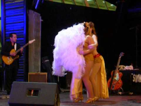 Burlesque dance show at Fremont Street Experience in Las Vegas thumbnail