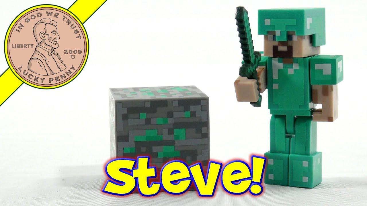 Superior Minecraft Steve With Diamond Armor Series #2, Jazzwares   YouTube