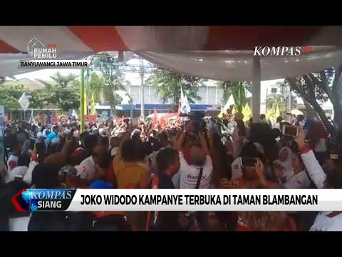Hadiri Kampanye Terbuka Di Banyuwangi, Jokowi Disambut Ribuan Pendukungnya