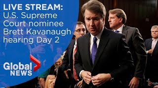 Trump's Supreme Court nominee, Brett Kavanaugh's confirmation hearing - day 2