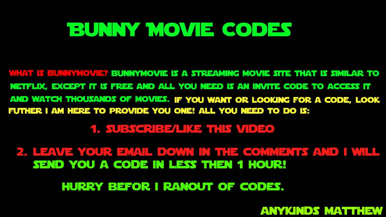 Bunny Invite Codes