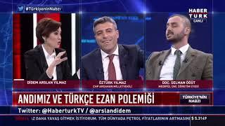 """Öztürk Yılmaz ile Selman Öğüt Kavgası! Türkçe Ezan Tartışması """"Sensin Yalaka"""" Kavgasına Dönüştü"""