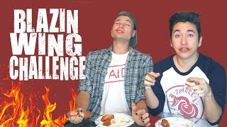 BLAZIN WING CHALLENGE *HOTTEST BUFFALO WINGS EVER*