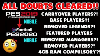 PES 2020 MOBILE UPDATE - TIPS & EXPLANATION