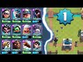 LEVEL 1 UNLOCKED EVERY LEGENDARY? | Clash Royale | World Record Push