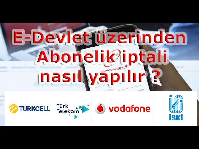 Abonelik Fesih İşlemi - Turkcell - Vodafone - Telekom - Tüm abonelikler
