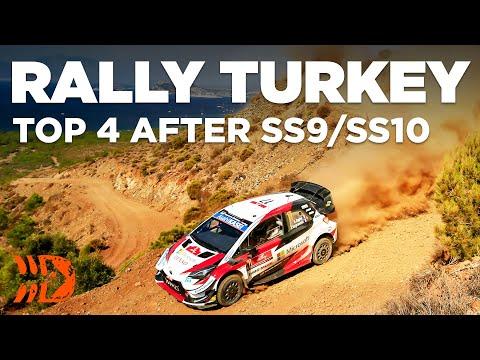 Top 4 After Grueling SS9/SS10 - WRC Rally Turkey 2020 [Evans, Neuville, Ogier & Loeb]
