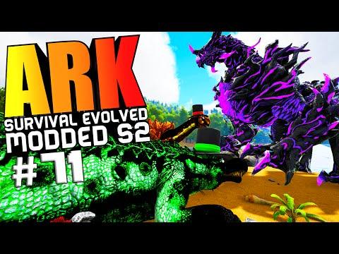 ARK Survival Evolved - DRAGON GOD VS WARDEN BOSSES, PIMP MY DINO ARMOR MOD Modded #71 (ARK Gameplay)