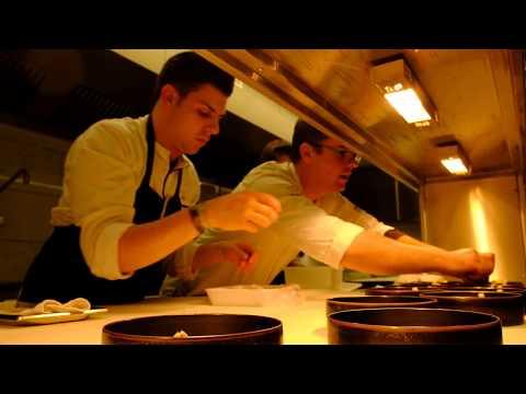 Busy kitchen at restaurant Le Mystique, Bruges - Belgium.